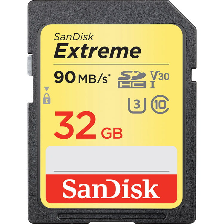 SanDisk SDHC 32GB Extreme 90MB/s